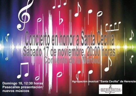 """Herencia Concierto de Santa Cecilia 2012 465x330 - La agrupación musical """"Santa Cecilia"""" prepara la celebración de su patrona"""