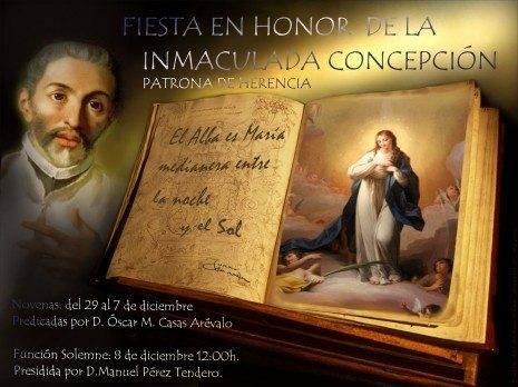 Imaculada Concepci%C3%B3n Patrona de Herencia 465x348 - Fiestas en honor a la Inmaculada Concepción
