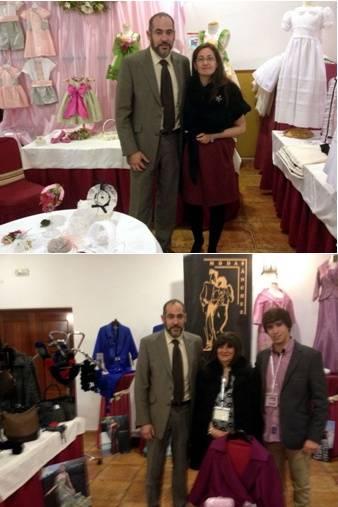 Jesús Fernandez junto a las empressas Mercedes Galán y Modas Ramón y Use - Empresas de Herencia presentes en la tercera edición de Feriboda Castilla-La Mancha