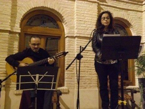 Pepe Pay%C3%A1 y Clarisa Leal Recital po%C3%A9tico musical Camino 465x348 - Celebrada la entrega de premios del IX Certamen de Poesía de Herencia