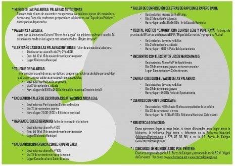 herencia programa jornadas valoradas 465x329 - Palabras voladoras es la propuesta para noviembre de la biblioteca de Herencia