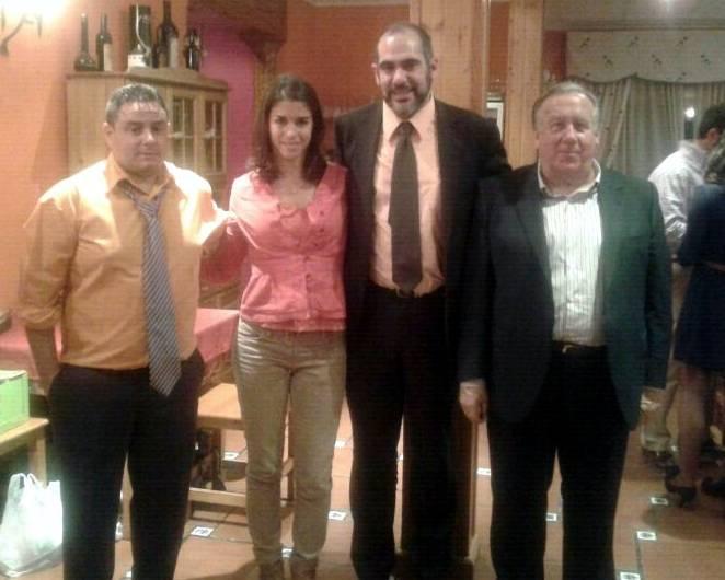 "Lea Vicens en la cena de la Peña Taurina ""Anillo 2008"""