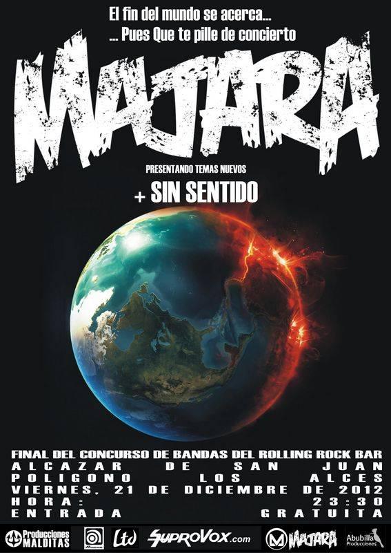 Último concierto de Majara en el 2012 - Último concierto de Majara