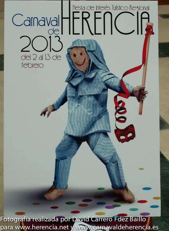 Cartel Anunciador del Carnaval de Herencia 2013 - Abierta la exposición y votación popular para elegir el Cartel Anunciador del Carnaval 2014
