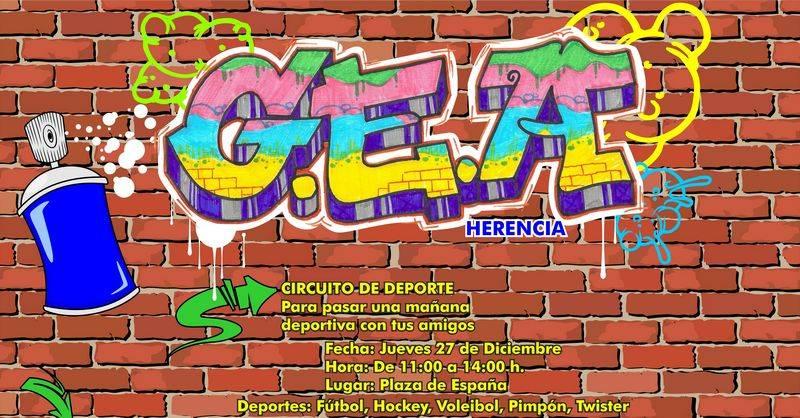 Cartel GEA - Nace GEA, una nueva agrupación de jóvenes en Herencia