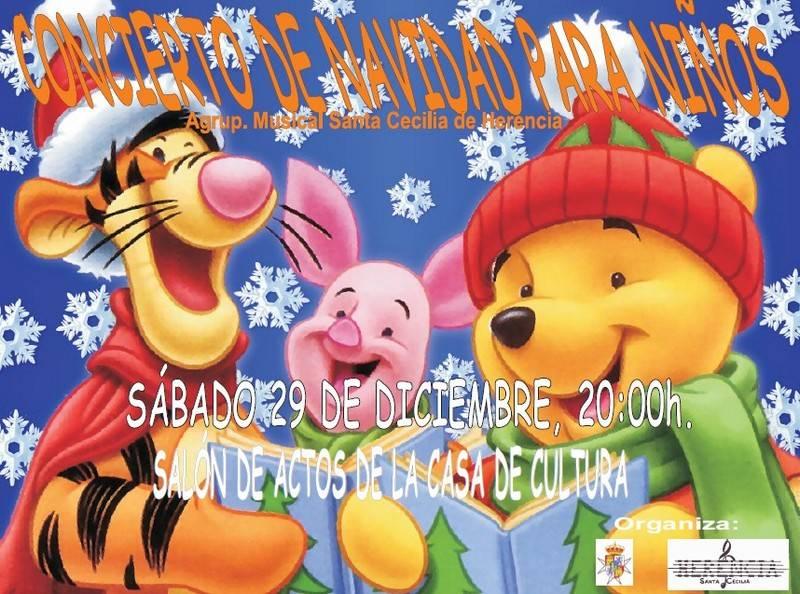 Cartel Concierto Navidad Banda de Música - Concierto infantil de la agrupación musical Santa Cecilia de Herencia