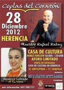 Coplas del corazón 212x300 - Rafael Rabay y Beatriz Librado cantarán en Herencia