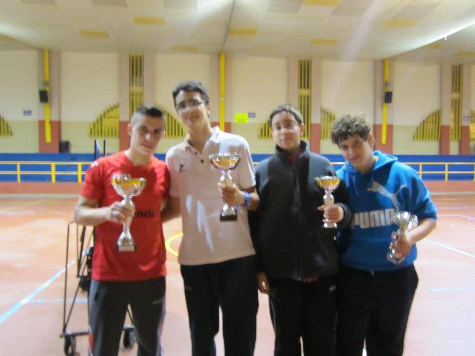 Ganadores del IV Campeonato de Ping-Pong Joven de Herencia