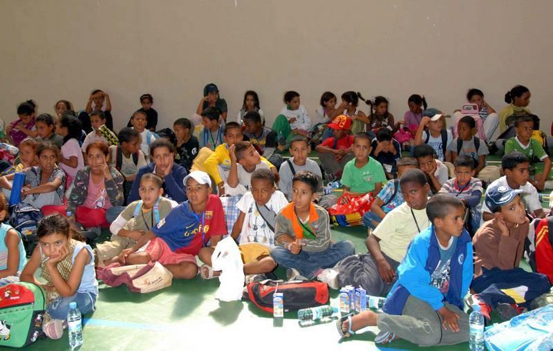 Foto de archivo. Recepción niños saharauis en Herencia