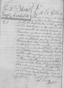 Acta de defunción de Manuel González de Salcedo