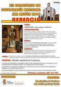 """Cartel del XII concurso fotográfico de animales """"San Antón 2013"""""""