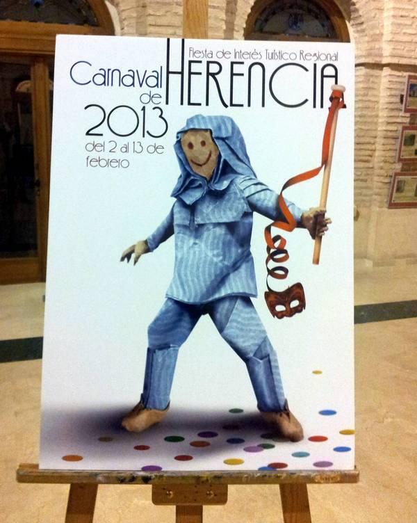 """EL CARTEL """"PERLEFLEXIA"""", DE JUAN DIEGO INGELMO, ANUNCIARÁ EL CARNAVAL DE HERENCIA, DE INTERÉS TURÍSTICO REGIONAL EN CASTILLA-LA MANCHA"""