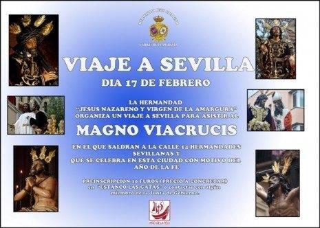 CARTEL SEVILLA Baja1 465x332 - Los Jóvenes Moraos organizan un viaje a Sevilla