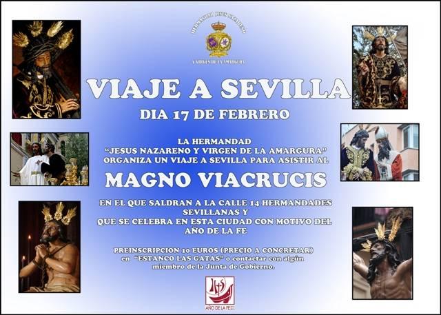 Cartel del viaje a Sevilla de los Jóvenes Moraos