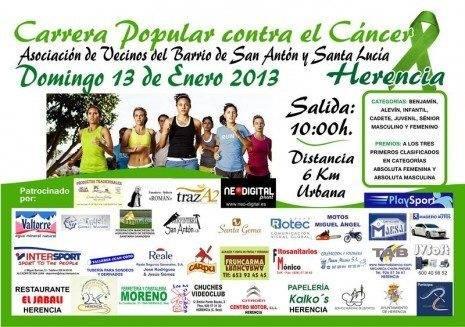 Cartel carrera popular contra el c%C3%A1ncer San Ant%C3%B3n 2013 465x327 - Carrera popular contra el cáncer durante la festividad de San Antón