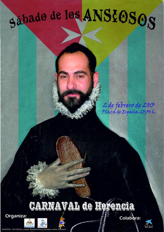 Cartel del Sábado de los Ansiosos 2013 del Carnaval de Herencia