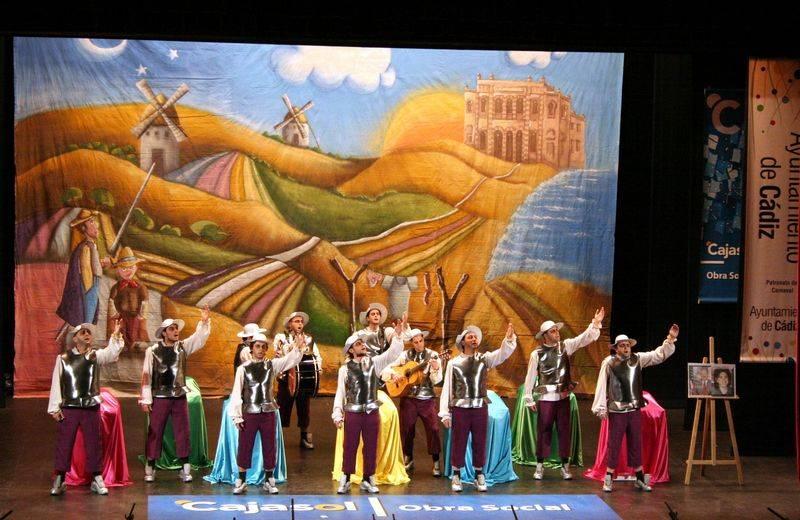 Los Pelendengues en su primera actuación en Cádiz hace años. Foto Archivo