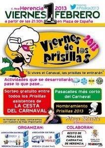 Carnaval de Herencia_Cartel del Viernes de los Prisillas 2013