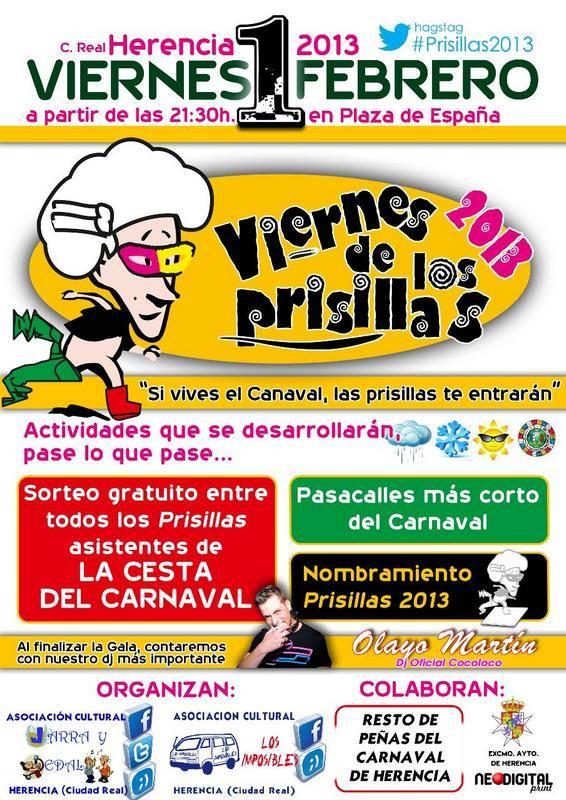 Viernes de los Prisillas carnaval de Herencia - Todo preparado para el Viernes de los Prisillas 2013