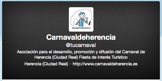 Apoyemos nuestro carnaval con el hashtag #carnavaldeherencia 1