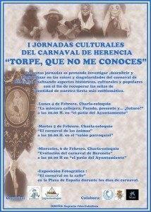 """jonadas culturales carnaval de herencia 214x300 - I Jornadas Culturales del Carnaval de Herencia """"Torpe, que no me conoces"""""""