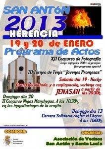 Programa de actos - Herencia San Antón 2013