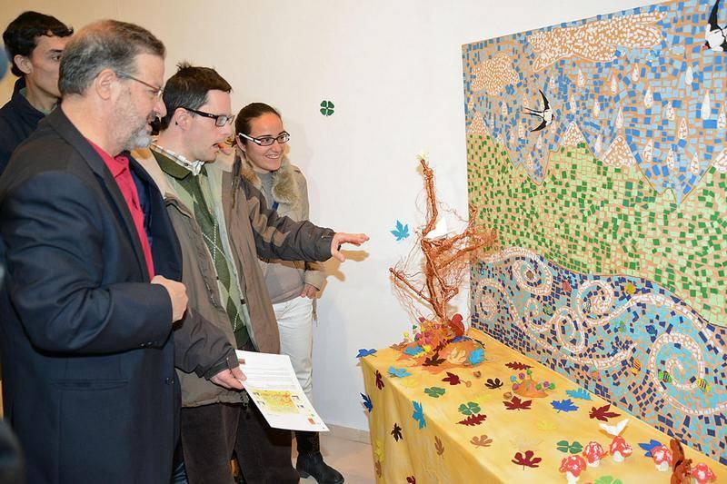 El Centro Ocupacional de Herencia crea verdaderas obras de arte para la exposición provincial