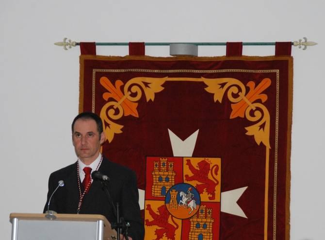 Manuel Díaz-Plaza durante su pregón de la Semana Santa de Herencia
