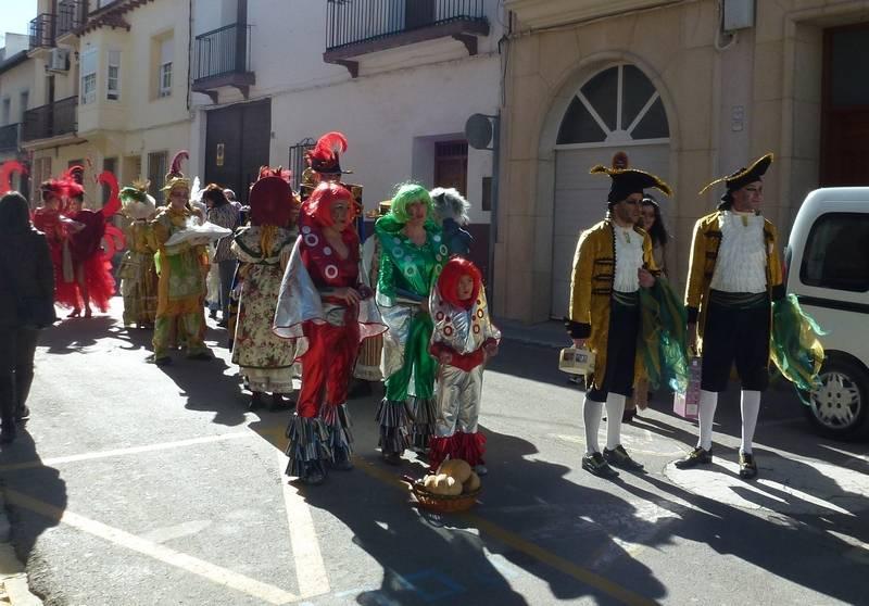 Alguno de los grupos y peñas oferentes del Carnaval de Herencia 2013