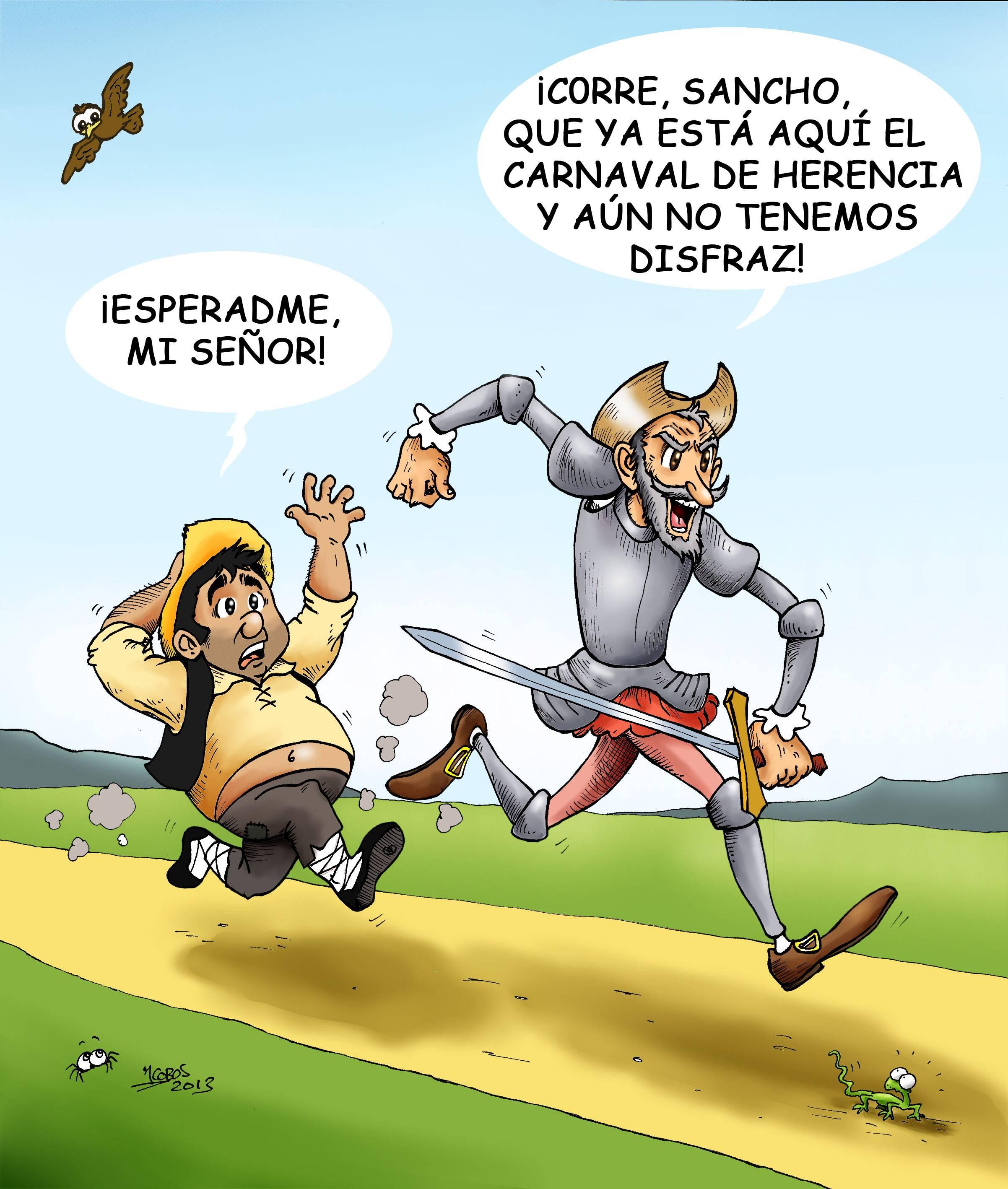 Sancho corre copia - Carnaval 2013: Sancho, corre!!