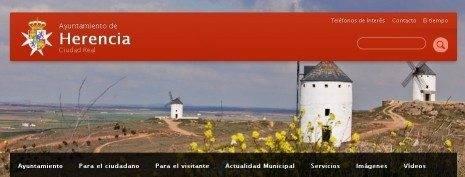 Web municipal del ayuntamiento de Herencia 465x177 - Nuevo servicio municipal para que los ciudadanos notifiquen incidencias de la vía pública