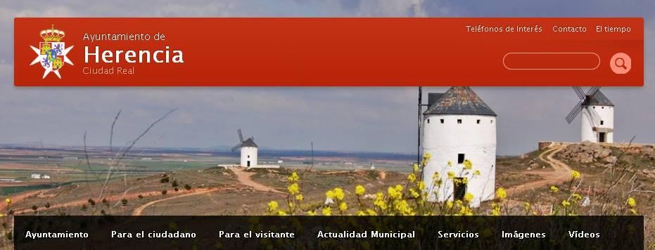 Web municipal del ayuntamiento de Herencia