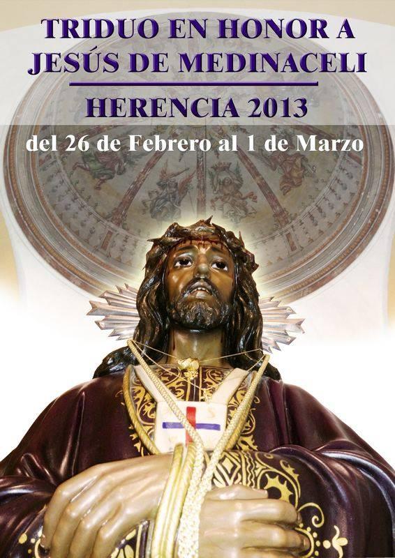 cartel medinaceli 2013 v2 - Triduo en honor a Jesús de Medinaceli