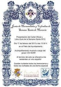 cartel oficial presentacion libro gu%C3%ADa semana santa 2013 212x300 - Acto de presentación del libro-guía y cartel de la Semana Santa herenciana 2013