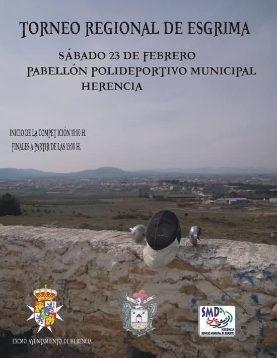 herencia esgrima cartel g - Herencia acoge el torneo regional de esgrima de Castilla-La Mancha