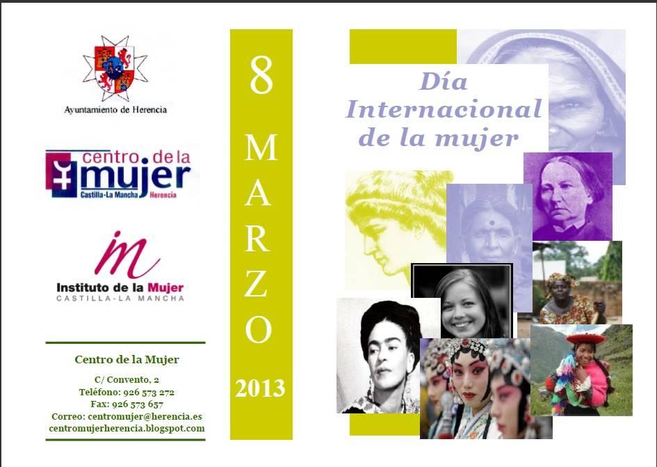 2013 03 08 Actos dia de la Mujer - Consulta aquí el programa de actividades para conmemorar el Día Internacional de la Mujer
