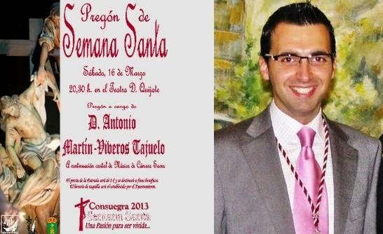 Antonio_Martin-Viveros pregonero de la Semana Santa de Consuegra