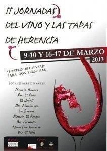 Cartel II Ruta de Vino y Tapas de Herencia 212x300 - Segundas Jornadas del Vino y las tapas de Herencia