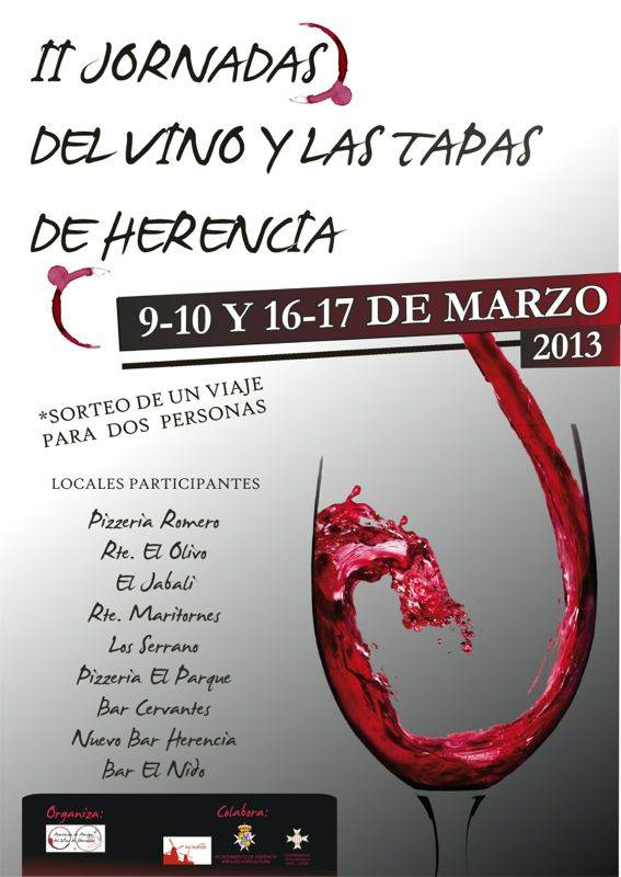 Cartel II Ruta de Vinos y Tapas de Herencia