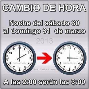 ESPANA CAMBIO DE HORA290 - Cambio de hora: Esta madrugada a las 2.00 serán las 3.00