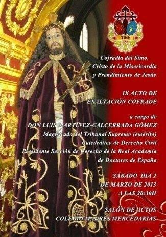 IX Acto de exaltaci%C3%B3n cofrade del Cristo de la Misericordia 325x465 - IX acto de exaltación cofrade del Cristo de la Misericordia
