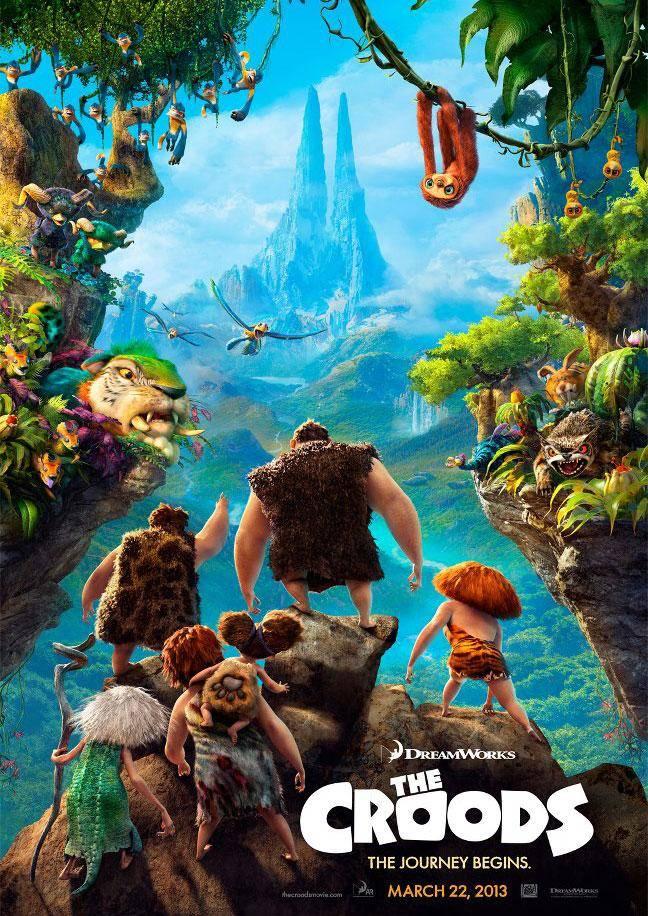 Los Croods Una aventura prehistorica - Cinemancha. Programación 22 al 25 de marzo.