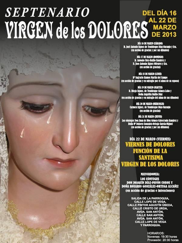 Septenario de la Virgen de los Dolores de Herencia