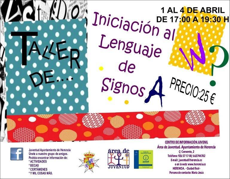 Taller de iniciación al lenguaje de Signos