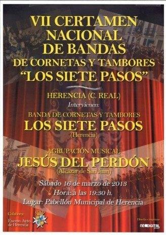"""VII Certamen Nacional de Bandas de Cornetas y Tambores Los Siete Pasos 328x465 - VII Certamen Nacional de Bandas de Cornetas y Tambores """"Los Siete Pasos"""""""