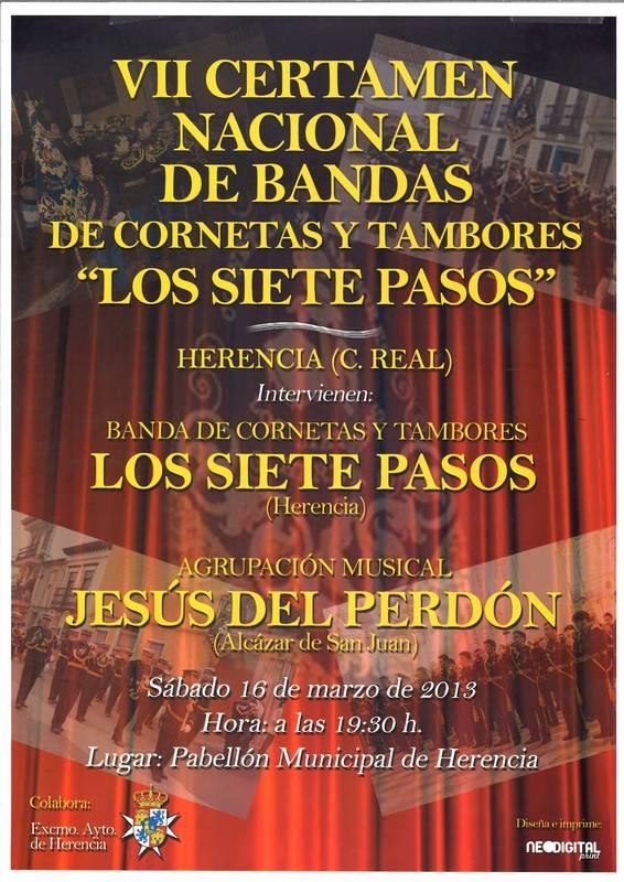 """VII Certamen Nacional de Bandas de Cornetas y Tambores """"Los Siete Pasos"""""""