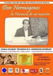herencia cartel Don hermogenes a 212x300 - Jornadas homenaje al maestro Hermógenes Rodríguez en el 30 aniversario de su fallecimiento