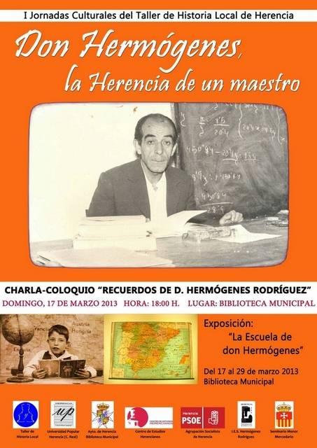 Cartel charla-coloquio sobre Don Hermógenes