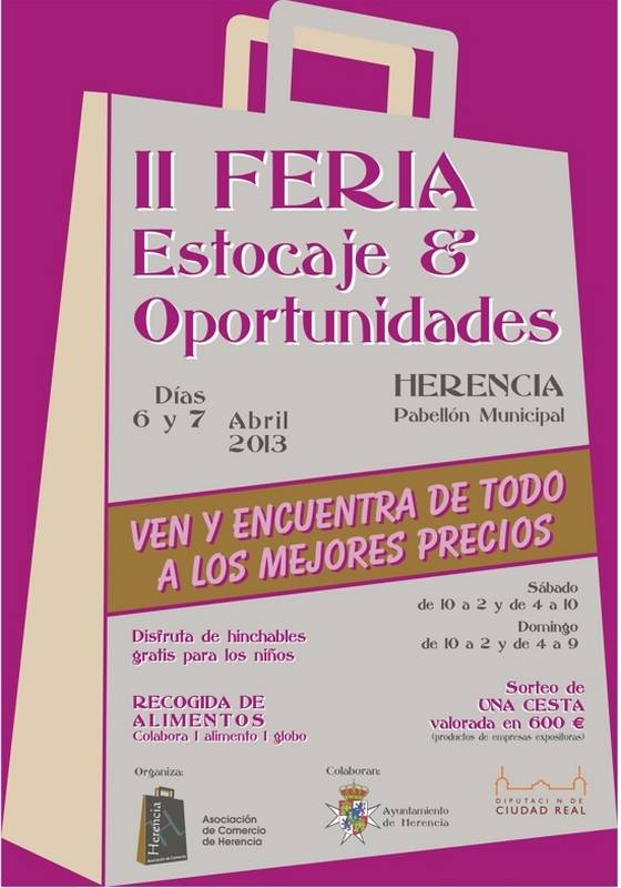 herencia cartel Feria Estocaje g - Herencia celebrará su II Feria del Estocaje el primer fin de semana de abril
