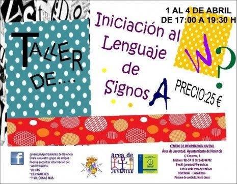 taller lenguaje de signos en herencia - El curso de lenguaje de signos comenzará el próximo 1 de abril en Herencia